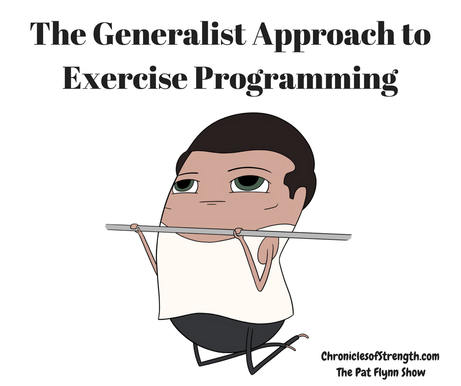 the generalist approach to exercise programming